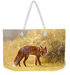 The Fox And The Fairy Dust Weekender Tote Bag by Roeselien Raimond
