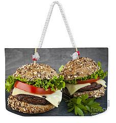 Two Gourmet Hamburgers Weekender Tote Bag by Elena Elisseeva