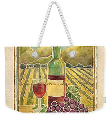 Vineyard Pinot Noir Grapes N Wine - Batik Style Weekender Tote Bag by Audrey Jeanne Roberts