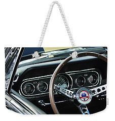 1966 Ford Mustang Cobra Steering Wheel Weekender Tote Bag by Jill Reger