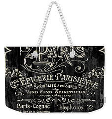Paris Bistro Weekender Tote Bag by Mindy Sommers