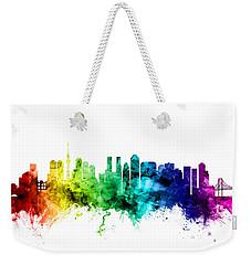 Tokyo Japan Skyline Weekender Tote Bag by Michael Tompsett