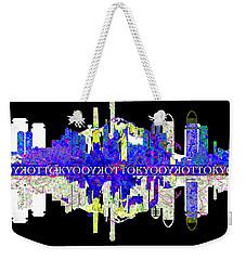 Tokyo Skyline Weekender Tote Bag by John Groves