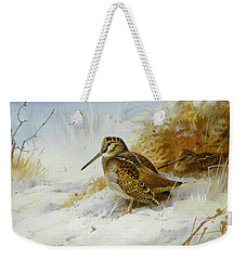 Winter Woodcock Weekender Tote Bag by Archibald Thorburn