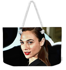 Gal Gadot Print Weekender Tote Bag by Best Actors