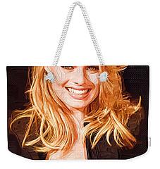 Margot Robbie Painting Weekender Tote Bag by Best Actors