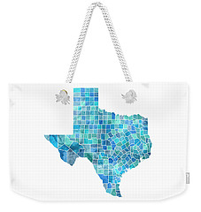 Texas Watercolor Map Weekender Tote Bag by Michael Tompsett