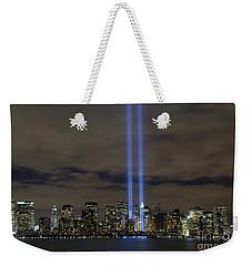 The Tribute In Light Memorial Weekender Tote Bag by Stocktrek Images