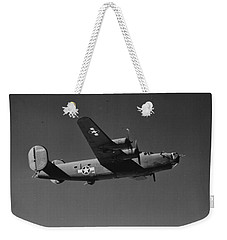 Wwii Us Aircraft In Flight Weekender Tote Bag by American School