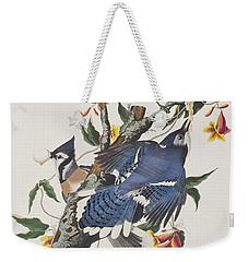 Blue Jay Weekender Tote Bag by John James Audubon