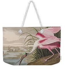 Roseate Spoonbill Weekender Tote Bag by John James Audubon