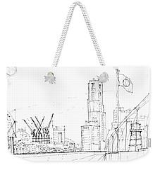 5.2.japan-1-tokyo-skyline Weekender Tote Bag by Charlie Szoradi