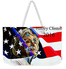 Hillary Clinton 2016 Collection Weekender Tote Bag by Marvin Blaine