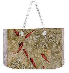 7 Pesci Rossi E Oro Weekender Tote Bag by Guido Borelli