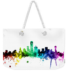Dallas Texas Skyline Weekender Tote Bag by Michael Tompsett