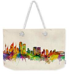 Sydney Australia Skyline Weekender Tote Bag by Michael Tompsett