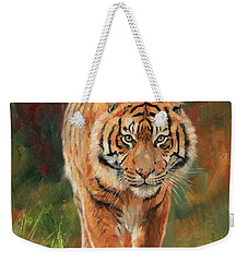 Amur Tiger Weekender Tote Bag by David Stribbling