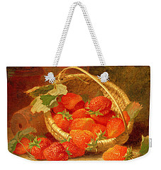 A Basket Of Strawberries On A Stone Ledge Weekender Tote Bag by Eloise Harriet Stannard
