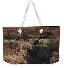 A Beaver's Work Weekender Tote Bag by Skip Willits