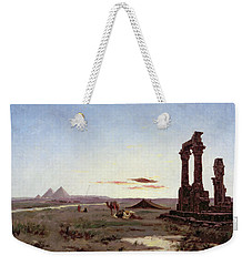 A Bedouin Encampment By A Ruined Temple  Weekender Tote Bag by Alexandre Gabriel Decamps