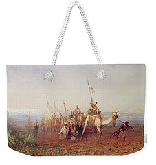 A Caravan On The Way To Cairo Weekender Tote Bag by Felix Ziem