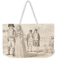 A Family In Hyde Park Weekender Tote Bag by Paul Sandby