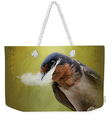 A Feather For Her Nest Weekender Tote Bag by Jai Johnson