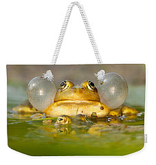 A Frog's Life Weekender Tote Bag by Roeselien Raimond