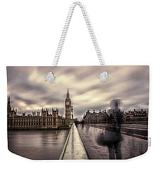 A Ghostly Figure Weekender Tote Bag by Martin Newman