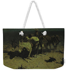 A Pack Train Weekender Tote Bag by Frederic Remington