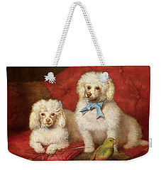 A Pair Of Poodles Weekender Tote Bag by English School