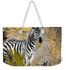 A Taste Of Africa Zebra Weekender Tote Bag by Mindy Sommers