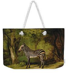 A Zebra Weekender Tote Bag by George Stubbs