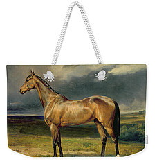 Abdul Medschid The Chestnut Arab Horse Weekender Tote Bag by Carl Constantin Steffeck