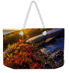 Above Bar Harbor Weekender Tote Bag by Chad Dutson