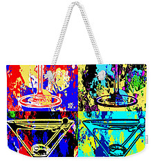 Abstract Martini's Weekender Tote Bag by Jon Neidert