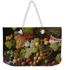 Abundant Fruit Weekender Tote Bag by Severin Roesen