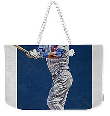 Addison Russell Chicago Cubs Art Weekender Tote Bag by Joe Hamilton