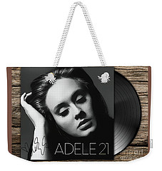 Adele 21 Art With Autograph Weekender Tote Bag by Kjc