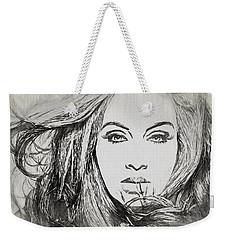 Adele Charcoal Sketch Weekender Tote Bag by Dan Sproul