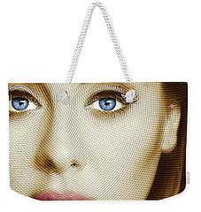 Adele Painting Circle Pattern 1 Weekender Tote Bag by Tony Rubino