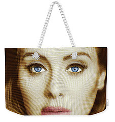 Adele Painting Circle Pattern 2 Weekender Tote Bag by Tony Rubino