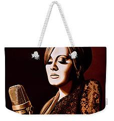 Adele Skyfall Gold Weekender Tote Bag by Paul Meijering