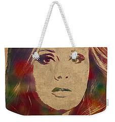 Adele Watercolor Portrait Weekender Tote Bag by Design Turnpike