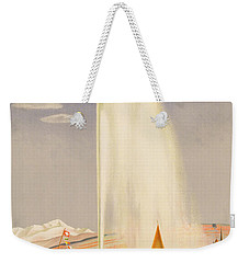 Advertisement For Travel To Geneva Weekender Tote Bag by Fehr