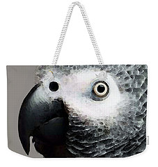 African Gray Parrot Art - Softy Weekender Tote Bag by Sharon Cummings
