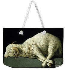 Agnus Dei Weekender Tote Bag by Francisco de Zurbaran