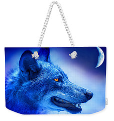 Alpha Wolf Weekender Tote Bag by Mal Bray