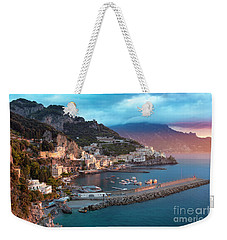 Amalfi Sunrise Weekender Tote Bag by Brian Jannsen