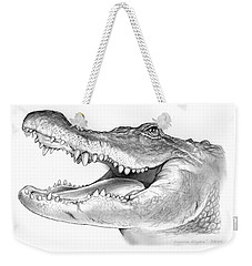 American Alligator Weekender Tote Bag by Greg Joens
